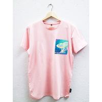 エシカルコットンTシャツ unisex /  Pink(Curious Chalmeleon pocket)