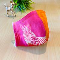 ハッピーアートマスク  Zebra Elephant Rainbow  (大人用 M)
