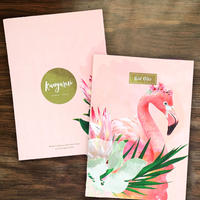ワイルドノート(罫線入り)Floral Flamingo