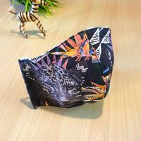 ハッピーアートマスク  Fierce Leopard  (大人用 M)
