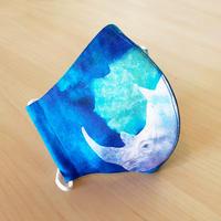 ハッピーアートマスク  Blue Rhino(大人用 L)