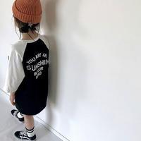 ラグランワンピ+ニット帽
