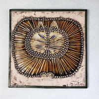 UNIK  Kat  ユニークシリーズ  丸猫の陶板 リサラーソンヴィンテージ