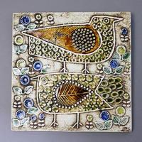 UNIK  Fagler  ユニークシリーズ  2羽の鳥の陶板 リサラーソンヴィンテージ