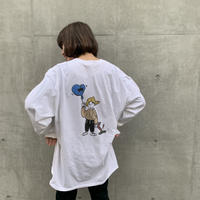 balloonboy long Tシャツ white