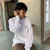 ☺︎<❤︎ 刺繍longTshirts white