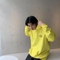 logo parka yellow