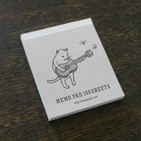メモパッド 猫がギター