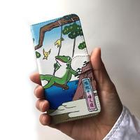 スマホケース 浮世絵(カエルがブランコ)
