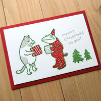 活版カード クリスマス