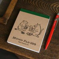 メモパッド 猫とカエルが乾杯