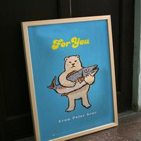 ポスター シロクマからのプレゼント