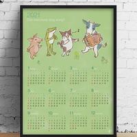 ポスター 2021カレンダー