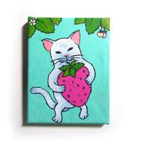 猫ミニキャンバスアート