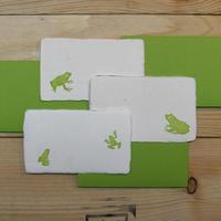和紙メッセージカード カエル(黄緑)3枚セット