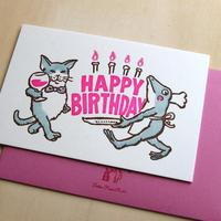 活版カード お誕生日おめでとう