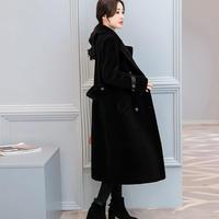 ファーコート スリム 防寒保暖 厚手 Vネック 無地 ポケット ファッション プレッピータイル 全2色 ポケット ファー
