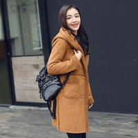 ファーコート 防寒保暖 裏起毛 無地 フード付き ポケット スリム 全2色 ポケット ファー 大きいサイズ