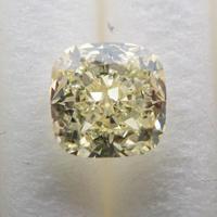 【4/15掲載】イエローダイヤモンド 0.413ctルース(LIGHT YELLOW, VS1,クッションカット)