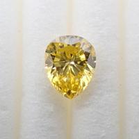【6/14掲載】ダイヤモンド 0.343ctルース(Treted FANCY VIVID YELLOW, SI1, トリートメント)