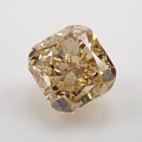 【5/1掲載】イエローダイヤモンド 0.447ctルース(FANCY BROWNISH YELLOW, VS2,クッションカット)