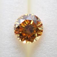 【2/14掲載】イエローダイヤモンド 0.283ctルース(FANCY DEEP ORANGY YELLOW, SI1)