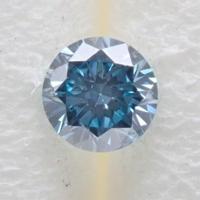 【12/22掲載】アイスブルーダイヤモンド 0.052ctルース(Treted FANCY INTENSE GREENISH BLUE, SI1)