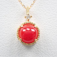 【5/22掲載】K18赤珊瑚0.47ct ペンダント(ネックレス)
