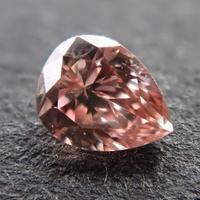 【4/8掲載】ピンクダイヤモンド 0.069ctルース(FANCY BROWNISH ORANGY PINK, SI2)