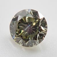 【2/14掲載】カメレオンダイヤモンド 0.283ctルース(FANCY LIGHT GRAY YELLOW GREEN, SI2)