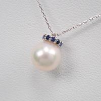 【11/8掲載】K18WGアコヤ真珠ペンダント(ネックレス)