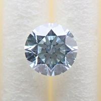 【8/3掲載】アイスブルーダイヤモンド (トリートメント) 0.271ctルース(Treted FANCY LIGHT GREEN BLUE, VS2)