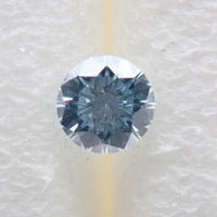 【8/27掲載】アイスブルーダイヤモンド 0.045ctルース(Treted FANCY GREENISH BLUE, VS2)