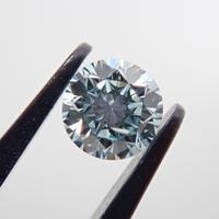 【8/27掲載】アイスブルーダイヤモンド 0.132ctルース(Treted FANCY GREENISH BLUE, SI2)