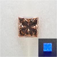 【9/30更新】ダイヤモンド 0.441ctルース(FANCY BROWN, SI1, プリンセスカット)