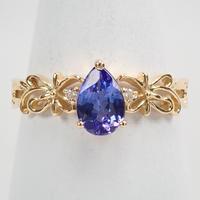 【4/23掲載】K18タンザナイト0.64ct ダイヤモンドリング