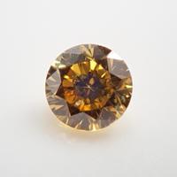 【5/1掲載】イエローダイヤモンド 0.083ctルース(FANCY DEEP YELLOW, SI2)
