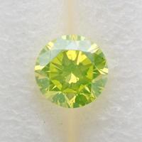 【7/30掲載】イエローダイヤモンド 0.124ctルース(トリートメント、蛍光イエローグリーン系)