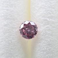【32500540掲載】ピンクダイヤモンド 0.059ctルース(FANCY PURPLISH PINK, SI1)