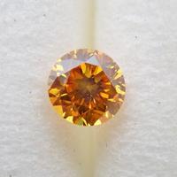 【12/27掲載】イエローダイヤモンド 0.150ctルース(FANCY DEEP ORANGE YELLOW, SI1)