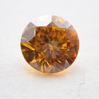 【1/2掲載】イエローダイヤモンド 0.180ctルース(FANCY DEEP ORANGY YELLOW, I1)