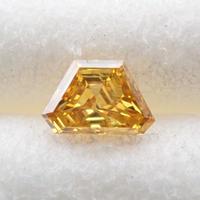 【3/21更新】イエローダイヤモンド 0.055ctルース(FANCY DEEP ORANGY YELLOW, I1)