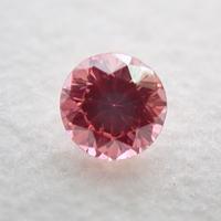 【8/13掲載】ダイヤモンド (トリートメント) 0.128ctルース(Treted FANCY VIVID PURPLISH PINK, SI1)