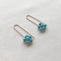 TURQUOISE BERRIES PIERCED