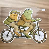 がまくんとかえるくん(自転車) ダイカットポストカード