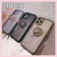 【No.303】花柄 リングホルダー付き iPhoneケース 4種類