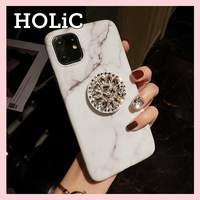【No.61】大理石柄 スタンドホルダー付き iPhoneケース