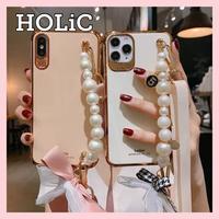 【No.243】真珠ブレスレット ストラップ取り外し可能 iPhoneケース 2種類