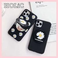 【No.85】 花柄 ミラー スタンドホルダー付き iPhoneケース 2種類