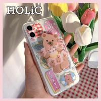 【No.149】 クリアケース イラスト スタンドホルダー付き iPhoneケース